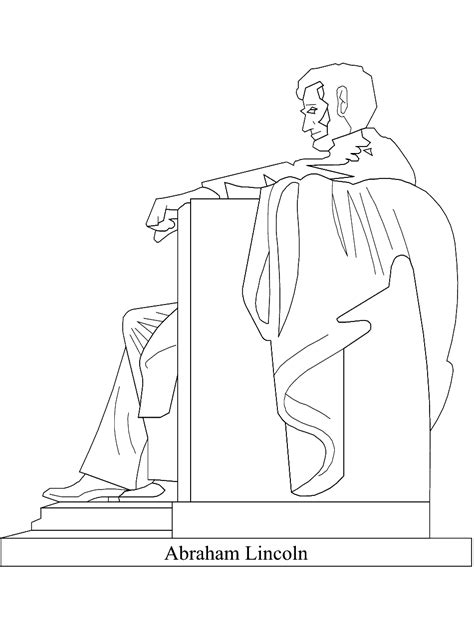 Presidents Day Coloring Page Abraham Lincoln Memorial Lincoln Memorial Coloring Page
