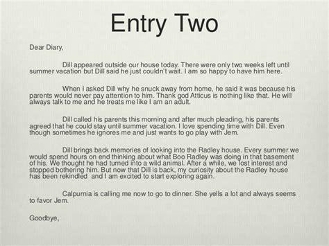 Business Letter To Kill A Mockingbird To Kill A Mockingbird Diary Entry S