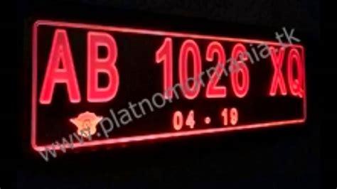Plat Nomor Acrylic Untuk Motor plat nomor menyala angka saja