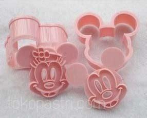 Carset Paket Hemat Motif Minnie Mouse jual cetakan kue motif mickey dan minnie mouse tokopastri