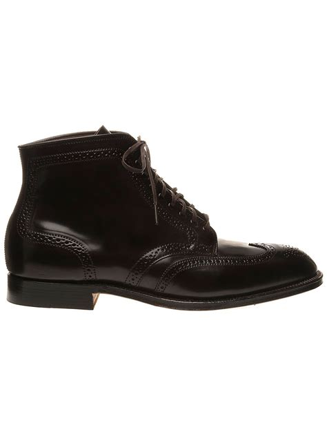 alden cordovan brogue boots in for oxblood lyst