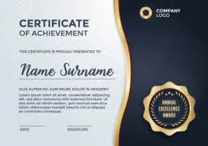 Certificate Template Vector Free by Certificate Template Design Vector Free