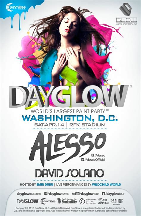 alesso dc day glow tour feat alesso sat 04 14 12 rfk stadium