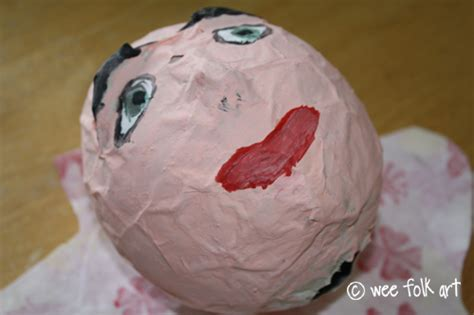 How To Make Paper Mache Heads - paper mache puppets part one the wee folk