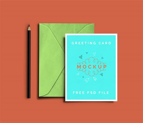 greeting card template psd greeting card mockup psd templates