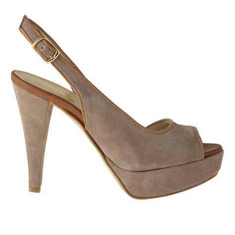 Slingback Platform Sandals small or large slingback platform sandal in sand and
