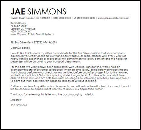 driver cover letter sle sles livecareer