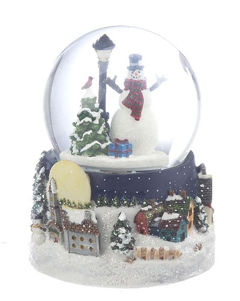 large snow globes christmas large snowman snow globe ornament snowman