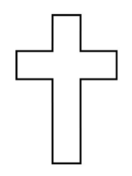 Easter Cross Template Printable cross printable my