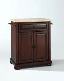Kitchen Island Portable by Crosley Furniture Alexandria Natural Wood Top Portable