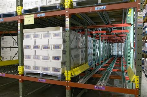 warehouse layout for fifo get your warehouse flowing with pallet flow storage racks