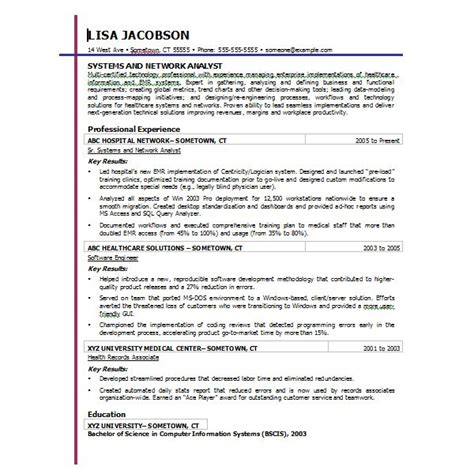 chronological resume template microsoft word ten great free resume templates microsoft word links