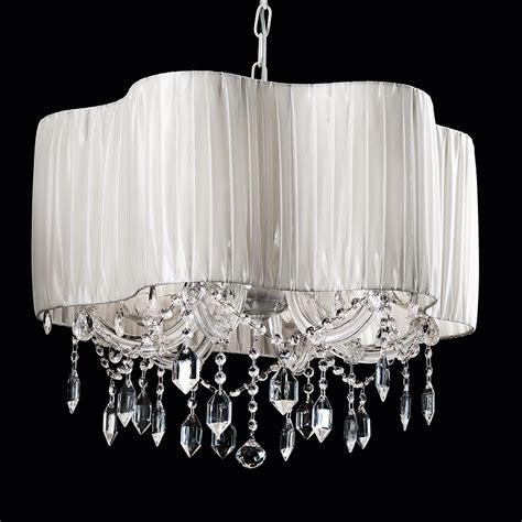 White Chandelier Exclusive Vintage Design White Silk Chandelier