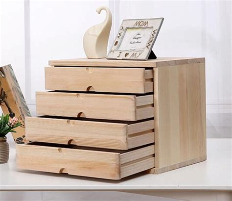 mini desk storage drawers office makeup organizer desktop debris storage box real