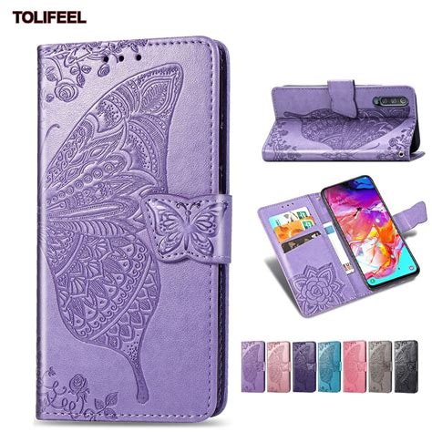 magnetic leather case  samsung galaxy        se wallet cover embossed