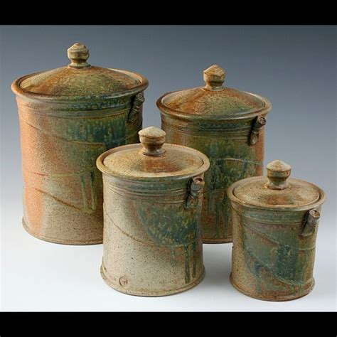 pottery kitchen canister sets 35 best pottery canister sets images on pinterest