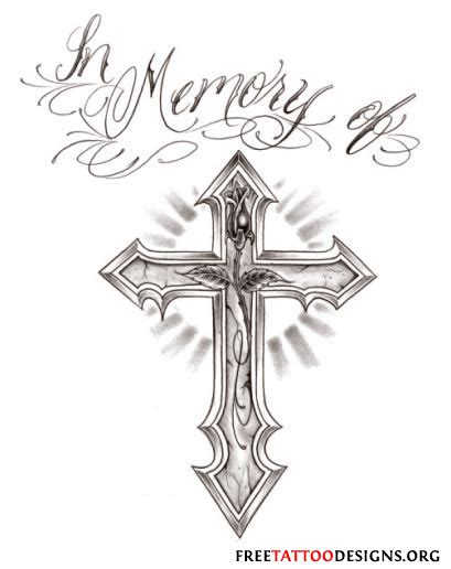 in memory cross tattoo designs cross gallery