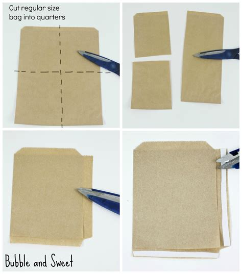 How To Make Your Own Paper Bag - and sweet diy mini brown paper and doily snack bags