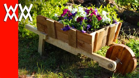 woodworking projects for garden make a rustic wheelbarrow garden planter easy diy weekend