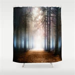enchanted forest shower curtain by viviana gonzalez society6