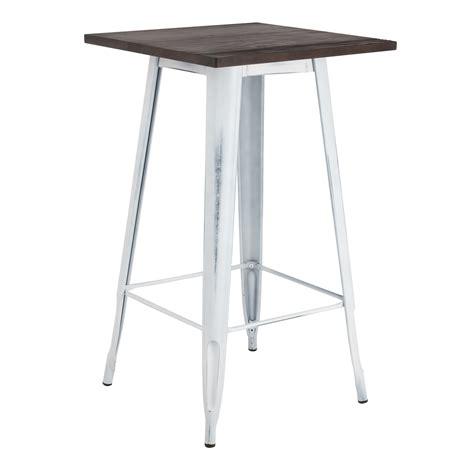 table en bois vintage table haute lix vintage en bois sklum