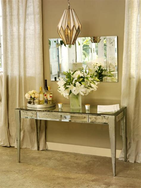 Mirrored Vanity Table Adding Shine With Mirrored Furniture