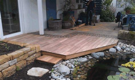 terrasse teich terrasse mit teich 2 die holzverbindung