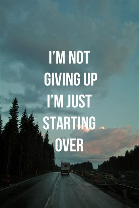 quotes about not giving up giving up