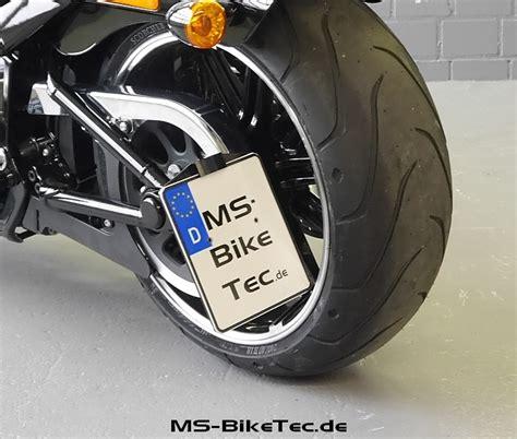 Kennzeichenhalter Motorrad Harley by Kennzeichenhalter Quot Side Low Quot Mit T 220 V F 252 R Alle Softail