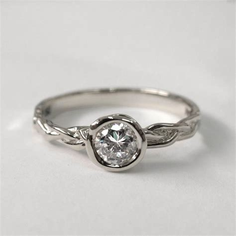 braided engagement ring platinum engagement unisex ring