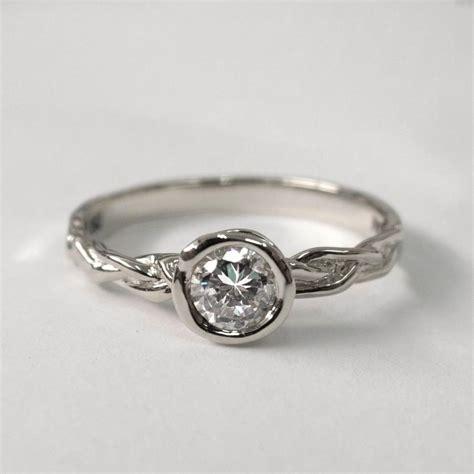 braided engagement ring platinum engagement unisex ring
