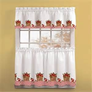 Apple Curtains For Kitchen Cortina Para Cocina Cortinas Y Cenefas
