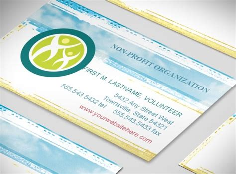 non profit business cards templates document moved