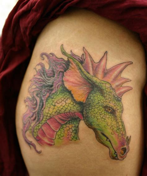 dragon thigh tattoo 40 exciting thigh tattoos creativefan
