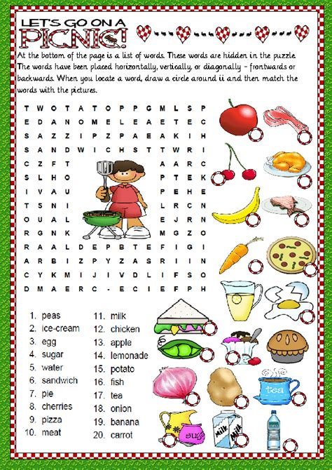 Related Search Food Wordsearch
