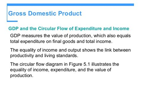the circular flow of income diagram shows measuring and economic growth
