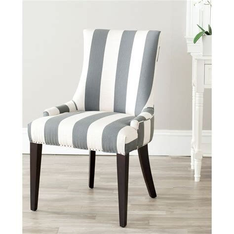 Grey Striped Dining Chairs Becca Grey Dining Chair