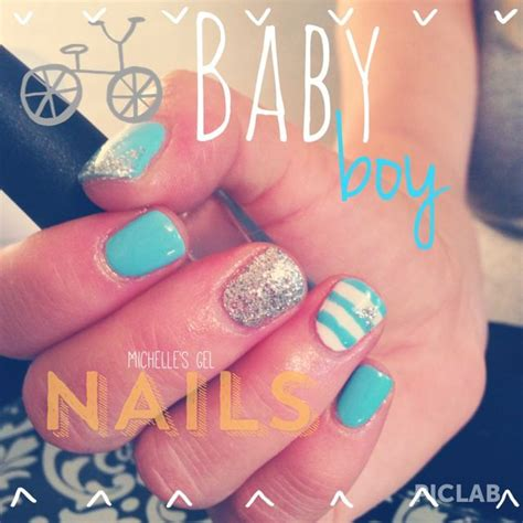 Baby Shower Nails by Baby Boy Nails Baby Shower Nails Blue For A Boy By