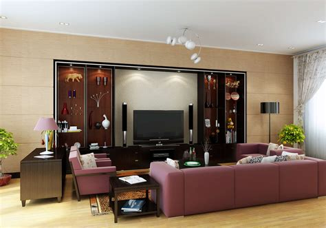 design your livingroom living with wall showcase 3d model max cgtrader com