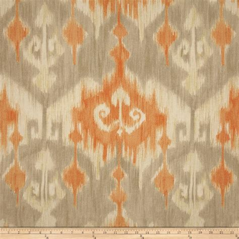 orange material for curtains richloom marlena ikat orange discount designer fabric
