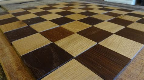 Handmade Chess Boards - handmade recycled oak chess board by madeinthemancave on