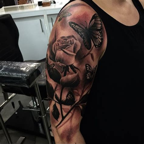 butterfly rose tattoo from best ink best 25 and butterfly ideas on