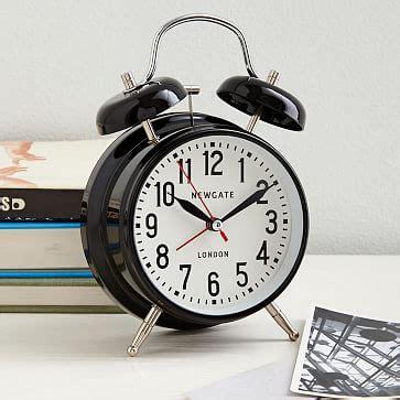 alarm clock black west elm