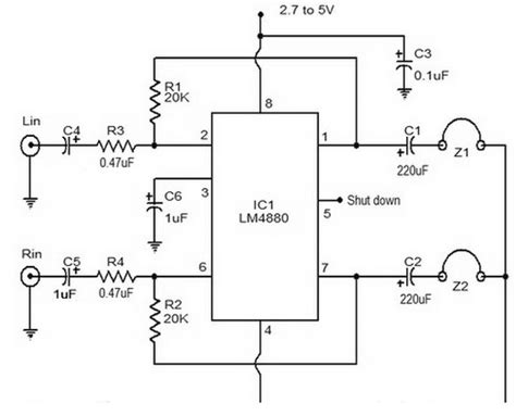 transistor headphone lifier schematic gt circuits gt hi fi headphone lifier circuit diagram l20783 next gr