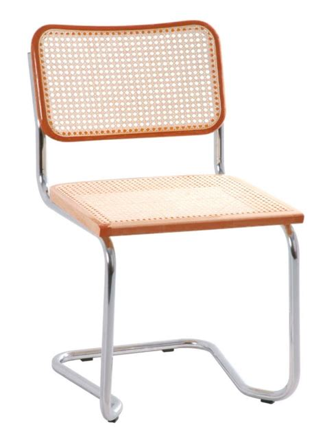stahlrohr freischwinger holm thone holz naturgeflecht - Stuhl 80er