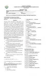 English worksheets vocabulary test for 7th grade
