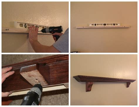 How To Install Fireplace Mantel Shelf by Diy Faux Mantel Shelf Install