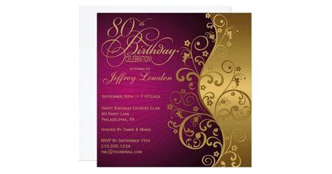 B D We Buy Gold Gift Cards Electronics Glendale Az - purple and gold 80th birthday party invitation zazzle