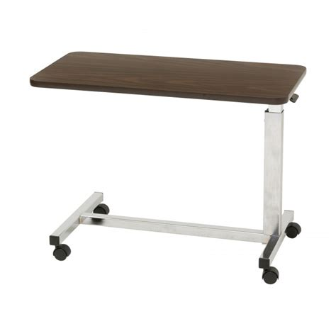 low bedside table low over bed table to use with low height hospital beds