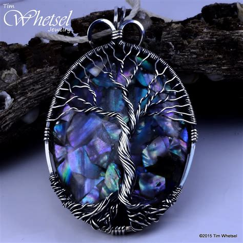 wrap jewelry of pearl orgonite sterling silver tree of